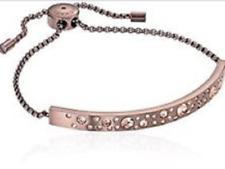MICHAEL KORS Women's Modern Brilliance Crystal Bronze Slider Bracelet MKJ5986798