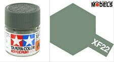 Acrylic Paint - Colore Acrilico 10ml XF-22 XF22 RLM GREY 81722 Tamiya New Nuovo