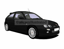 Rover Mg Zr Metal Llavero. elige tu coche color y rueda de la aleación Estilo