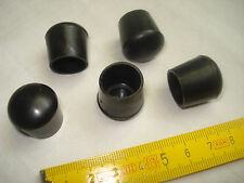 16 patins embouts PVC noir pour tube  diamètre 16 mm  fauteuil, siège