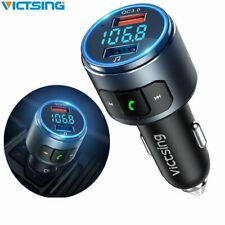 VicTsing V5.0 Car Bluetooth FM Transmitter QC3.0 FM Radio Adapter Kit For Siri