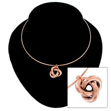 USA Made Rose Gold Tone Necklace Knot Pendant Charm