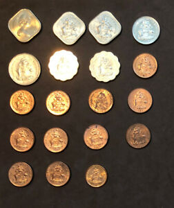 Bahamas Lot Of 19 Coins-1969-2009~ ~1,5,10,15,25 Cents