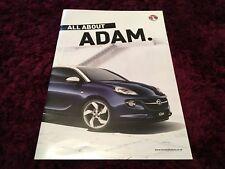 Vauxhall Adam Brochure 2013 inc Jam, Glam, Slam