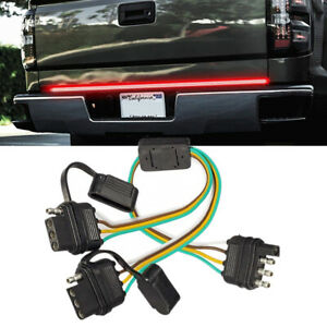 4Pin Cable Splitter Plug Truck Trailer Harness Adapter For LED Tailgate Light 1x