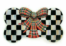 Mackenzie-Childs Party PUP/Pet/Dog Placemat ~Tartan Bow ~ NEW ~ #97800-001 ~ NLA