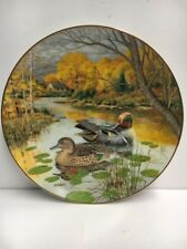 """""""The Green-Winged Teal """" by Bart Jerner Knowles Collector Plate - 1987"""