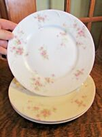 """HAVILAND LIMOGES ROSE SWAGS  LUNCHEON PLATES, 8 3/4"""" SET (3)"""