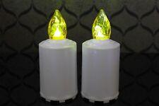 2 x LED Kerze Grabkerze Grablaterne Grablicht Grablampe Deko flacker gelb