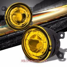 Yellow Amber LED Projector Replacement Bumper Round Fog Light Lamp+Bulb+Mount