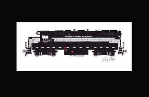 """Finger Lakes Railway GP38-2 #2004 11""""x17"""" Matted Print Andy Fletcher signed"""