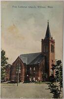 Free Lutheran Church Willmar, Minnesota MN 1910's Antique Postcard