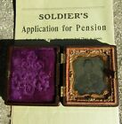 Original Named Civil War Colored Tintype & Pension Paper- Co A 172nd RGT- PA INF for sale