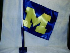Rico Michigan Wolverines Car Truck Flag Banner Double Sided With Pole 15 x 11