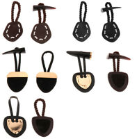 Jacket Leather Button Horn Toggle Closure For Coat Shawl Clothes Decorations DIY
