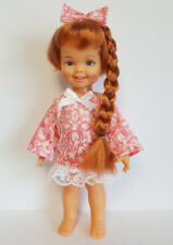 CINNAMON Doll Clothes CORAL Sweet Dress & Hair Bow Handmade Fashion NO DOLL d4e