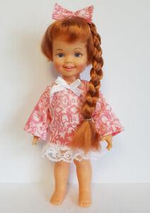 CINNAMON Doll Clothes CORAL Sweet Dress & Hair Bow Handmade Fashion NO DOLL d4e