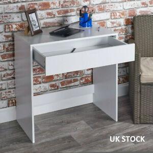 1 Drawer Dressing Table Wooden Vanity Computer Desk Bedroom Furniture Office UK