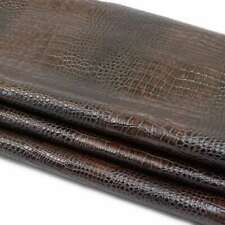 SLC Imperial Embossed Gator on Cowhide Leather (Choose Color)| Rough Cut by SqFt