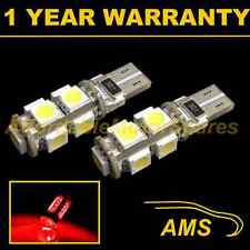2x W5w T10 501 Canbus Error Free Rojo 9 Led sidelight Laterales Bombillos sl101704