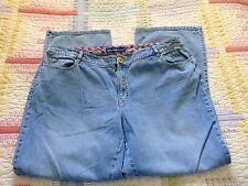 Avenue Jeans Size 18 Embroidered Pink Flower Inner Waistband