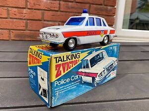 Palitoy Talking Z Victor Police Car In Its Original Box - Battery Operated 1973