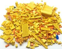 LEGO HUGE 1 POUND LOT OF YELLOW PIECES BULK ASSORTED COLOR BRICKS PARTS