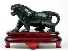 Natural Nephrite Jade Tiger Statue / Carving / Sculpture