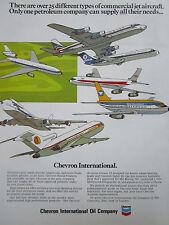 10/1972 PUB CHEVRON OIL WIEN OVERSEAS NATIONAL DELTA KLM SAS TWA AIRLINES AD