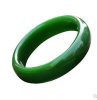 Female 54mm-65mm Bangle AAA Beautiful Chinese Green Jade Hand-carved Bracelet