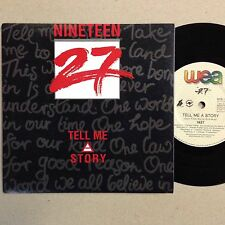Nineteen 27 Tell Me A Story EXc 1990 Pc 7`` Record
