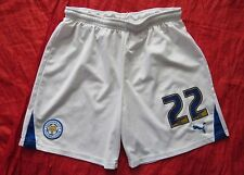 Leicester City #22 home shorts PUMA 2012-2013 Liam Moore The Foxes adult SIZE L