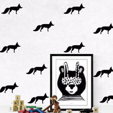 Paint Wall Treatments Black Fox Cartoon Decor 18PCS Wall Stickers Cute Stickers