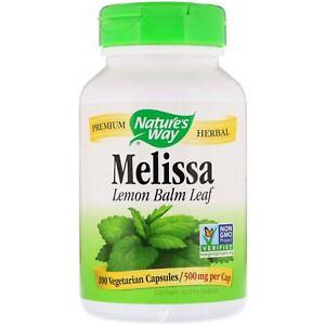 Nature's Way - Melissa - Lemon Balm 100 Capsules
