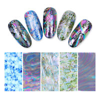5 Sheets/Bag  Sky Nail Foil Holographicsss Decals DIY Nail Art Decoration