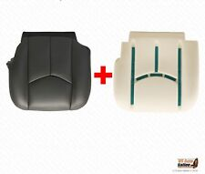 2007 GMC Sierra 3500 Driver Bottom Leather Seat Cover Plus Foam Cushion DK GRAY