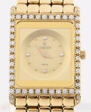 Concord Solid 18k Yellow Gold Delirium Quartz Watch w/ Diamond Dial & Bezel