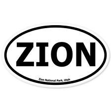 "Zion National Park Oval car bumper sticker 5"" x 3"""