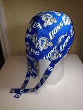 Detroit Lions Skull Cap / Doo Rag w/ Cool Max Lining