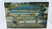 Vintage Postcard The Swimming Pool and Canoe Lake Ryde Isle of Wight.