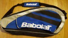 Babolat tennis bag racquet blue gray white black with strap