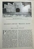 1911 Idaho Magic Dam Big Wood River Blaine County illustrated