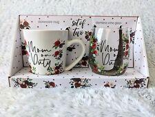 Home Essentials Set Of 2 Stoneware Mug & Stemless Wine Glass 'Mom on Duty' Gift