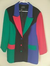 Boutique Europa Vintage Women's Retro Multi-Colored Coat Jacket Blazer Sz 20