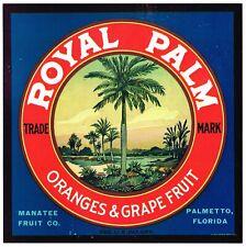 CRATE LABEL VINTAGE FLORIDA 1930S STRIP FLORIDA GIRL GROVE C1930 ORIGINAL