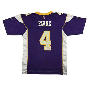 Minnesota Vikings Youth Jersey Brett Favre #4 Reebok On Field Football Sz Kids L