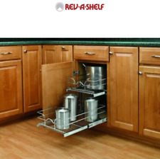 "Rev-A-Shelf 15"" Wide 22"" Deep Cabinet 2 Tier Pull Out Wire Basket (Open Box)"