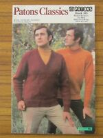 PATONS KNITTING - 105 CLASSICS RAGLAN JUMPERS FOR MEN 4 5 8 12 PLY