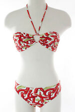 Manuel Canovas Multi-Color Abstract Print Bikini Swimwear Size 6 New