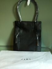 Zara Office Tote Bag With Zips New With Tags